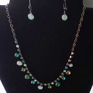 Vintage Avon Necklace & Earring Set.